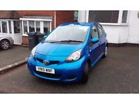 For sale Toyota Aygo 10 reg blue 50000 miles 2 owners 12 months MOT air conditoning excellent car