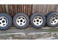 toyota hilux road wheels x 4 six stud.