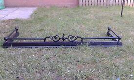 Fire Fender for sale - Black cast iron/cast iron-effect, adjustable width. Excellent condition.