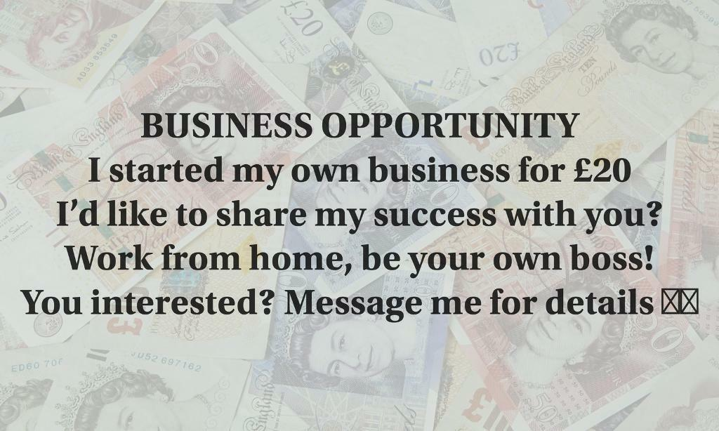 BE YOUR OWN BOSS-WORK FROM HOME