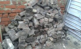 Old house bricks free to collect