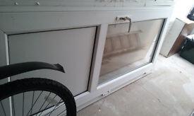 White double glazed door - used