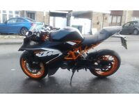 2015 ktm rc125 cat b loss for parts or export only