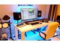 Music recording studio sessions