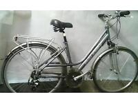 Womans Quality Hybrid Bike with Mudguards - Stand - Pannier Carrier - LED lights