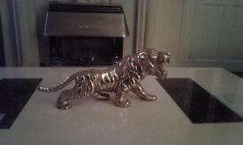 Very large solid brass tiger 16x8 inches stunning object to display pickup rutherglen