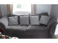 Grey SCS 3 seater sofa and armchair