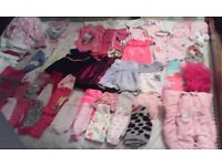 Big bundle of baby girls 0-3 month clothes