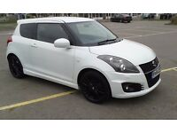 2014 64 reg, Suzuki swift 1.6 sport. Metallic Pearl cool White, Just 20500 miles from new