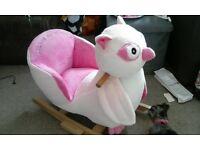 pink owl rocker