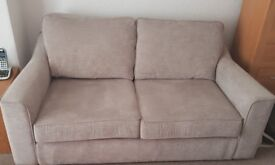 Harveys Connie 3 Seater Fabric Sofa Taupe EXC COND LIKE NEW