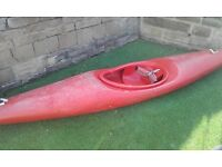 Kayak Canoe Young adult / child size with life jacket.