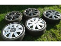 "set of 5,18"" Renault sport alloys. (5x108)"