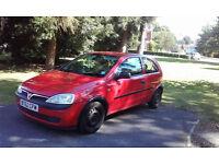 Vauxhall Corsa 1.0 i 12v Club 3dr 2002 12 months MOT