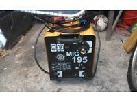 MIG Welder 195 Amp gas/nogas