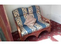 Comfy Sofa/Settee - Two Seater Bamboo Settee - very comfy - Ideal for conservatories