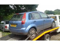 2002 Ford Fiesta MK6 5dr 1.3 LX manual metropolis blue BREAKING FOR SPARES