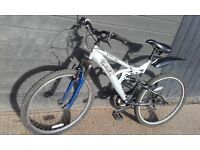 Outrage, ladies/mens, silver/black mountain bike
