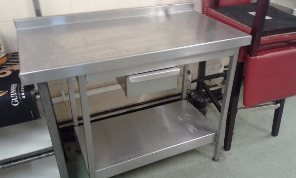 Commercial Stainless Steel Tables Restaurant Pub Kitchen Cafein Grantham, LincolnshireGumtree - Various commercial stainless steel kitchen tables for sale. Qty 2 60cm (D) x 60cm (W) x 85cm (H) £80 each Qty 2 60cm (D) x 120cm (W) x 85cm (H) £150 each Qty 1 60cm (D) x 105cm (W) x 85cm (H) with drawer £150 Qty 1 60cm (D) x 180cm (W) x 85cm (H)...
