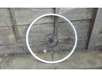 front 26 inch mountain bike wheel SPECIALIZED STOUT / ALEX white disk disc only