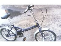 FOLDING BIKE APOLLO BIKE SINGLE SPEED 20 INCH WHEEL IN EXCELLENT CONDITION AVAILABLE FOR SALE
