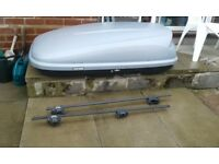 Halfords car top box and car rails and locks and all keys