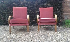 2 vintage Parker Knoll armchairs, model number: PK708