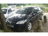 2005 Vauxhall Corsa C 1.0 12v breeze 3dr sapphire black 20R 2hu BREAKING FOR SPARES