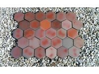 Terra cotta Hexagon Floor Tiles Qty 70
