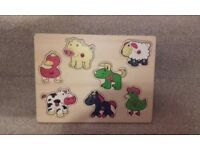 Baby Toddler Wooden Peg / Slot in Jigsaw puzzles