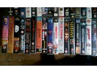 VHS tapes for sale!!, over 70 well known titles.