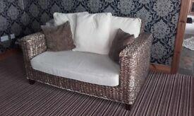 2 seater designer wicker sofa
