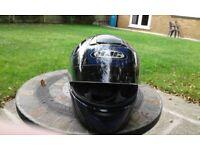 Motorcycle/motorbike crash helmet, hjc size large