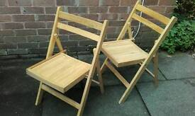 2 collapsable chairs....