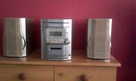 **swap only**. Panasonic 5cd mini stereo system . Swap for aquarium.