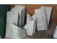 Wall edging slabs