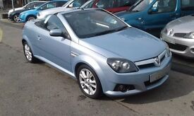 2005/05 VAUXHALL TIGRA 1.4 i 16v SPORT 2 DOOR CONVERTIBLE IN STUNNING BLUE,EXCELLENT CONDITION