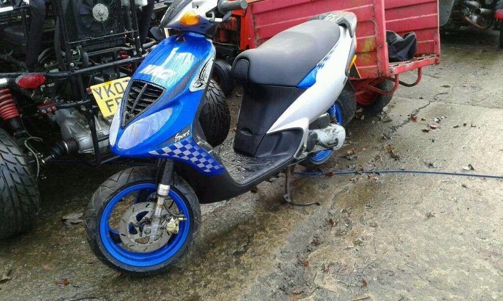 piaggio nrg 50cc bike. 50mph top speed | in bridlington, east