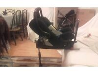 Britax Babysafe 0-15 Isofix car seat system. Complete system base and car seat. £80
