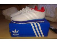 adidas haven white trainers size 8