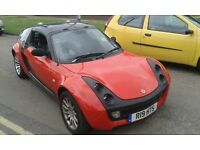 2004 Smart Roadster 850cc turbo auto red BREAKING FOR SPARES