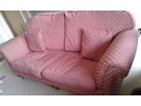 FREE - Large 2 seater sofa, wooden legs - in good condition. Must go this week, collection only.