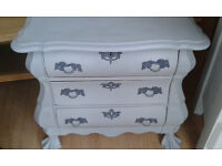 shabby chic hand painted chest of drawers