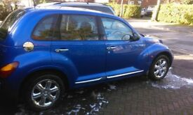 lovely american hot rod. chrysler pt cruiser 2.2crd limited, deep metallic blue, electric sunroof