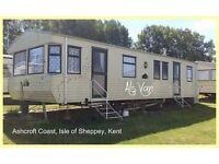 ALS VAN: 3-bed Static Caravan: Holiday Lets at Ashcroft Coast (PARKDEAN RESORTS) Isle of Sheppey