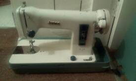 Jones De Luxe 110 Vintage Sewing Machine, rare and working