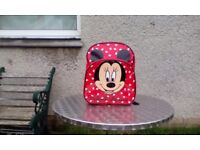 Children's Red Mini Mouse Backpack ( as new but no tags)