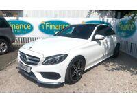 CAN'T GET CREDIT? CALL US! Mercedes-Benz C220 2.1 CDI AMG Line BlueTEC - £200 DEPOSIT, £81 PER WEEK