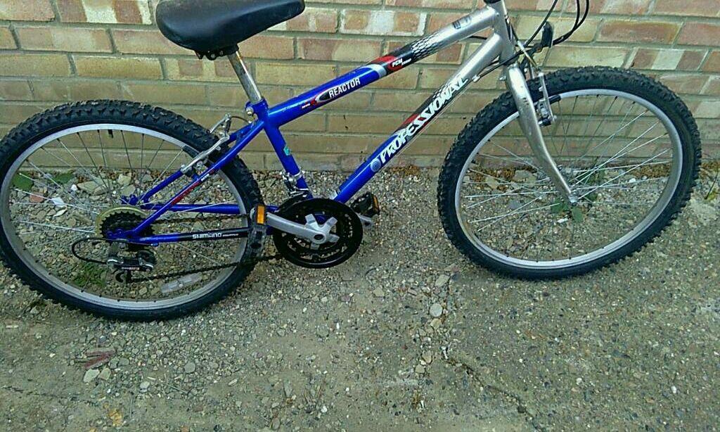 2 children\'s bikes 7+ age 1 pink bmx 1 mountain bike 13 inch frame ...