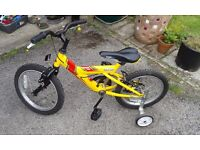 Raleigh Max 16 childs bike with stablisers